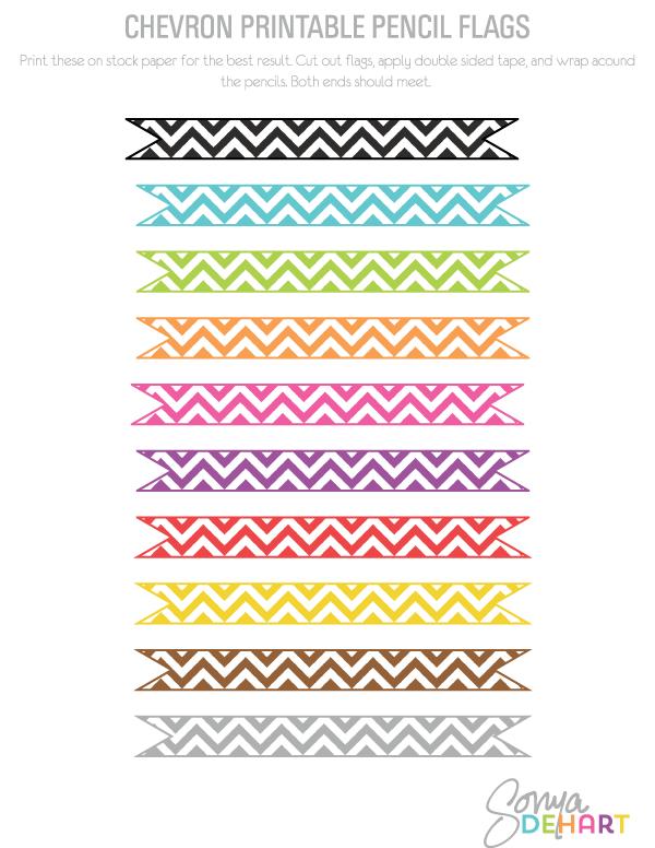 Etiquetas para decorar lápices