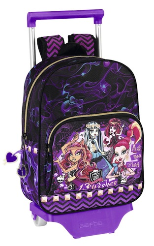 Mochila Monster High con ruedas