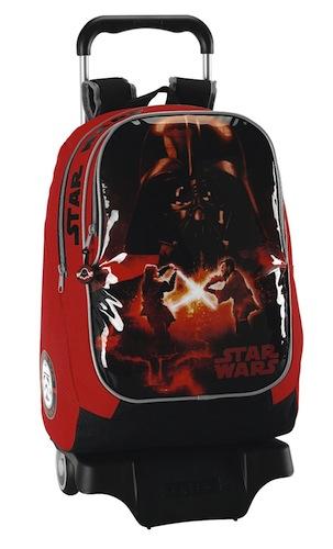 Mochila Star Wars con ruedas para niños