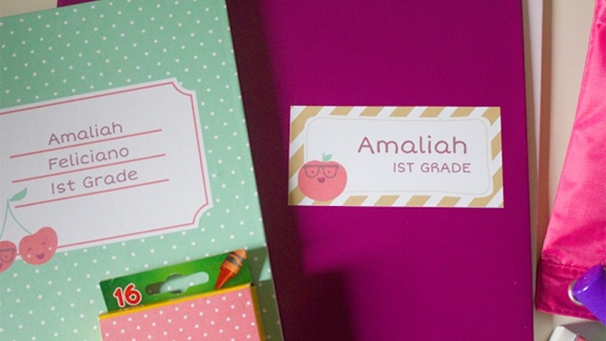 Etiquetas para marcar cuadernos y libros de Falala Designs