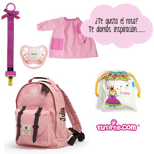 mochila guarderia personalizada rosa