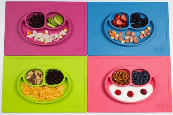 Mantel antideslizante para niños con plato