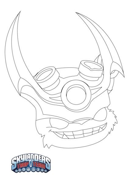 Descarga Plantilla Máscara de Skylanders para Halloween