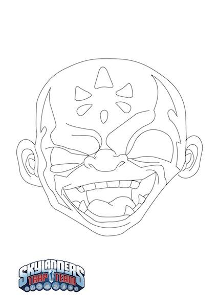 Máscara Halloween Skylanders Trap Team