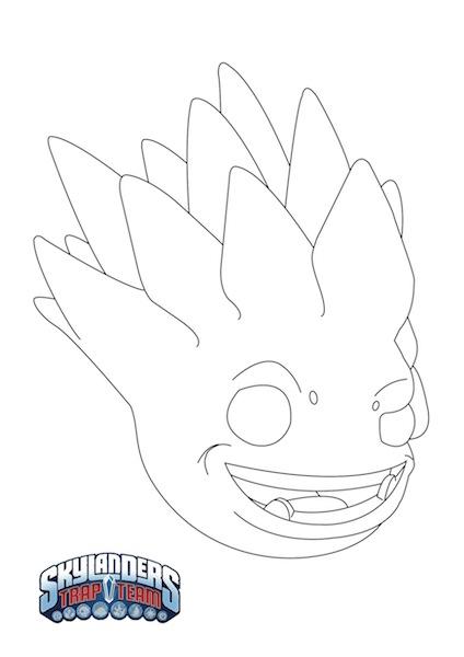 Plantilla Máscara de Skylanders para Halloween