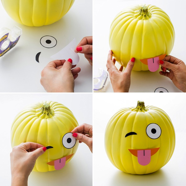 Decorar calabazas para halloween con divertidos emoticonos for Como decorar una calabaza original