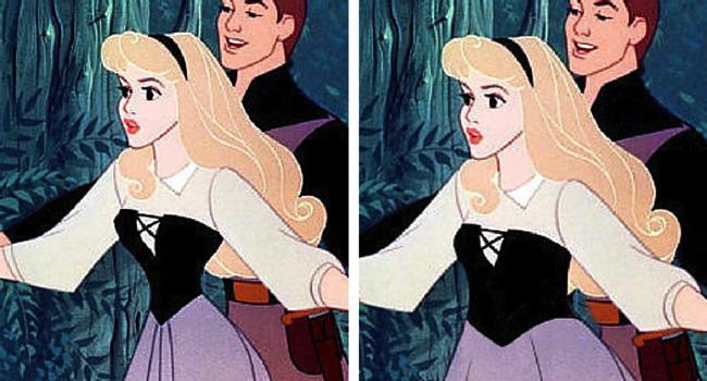 Aurora imagen de Disney e imagen de BuzzFeed/Loryn Brantz/Walt Disney Studios