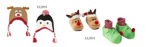 Zapatillas y gorros navidadeños de Zippy