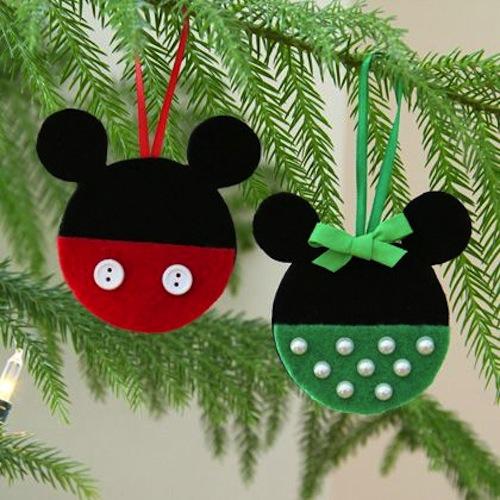 Adornos de navidad de Mickey y Minnie para hacer con niños
