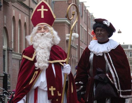 Sinterklaas y su paje Piet