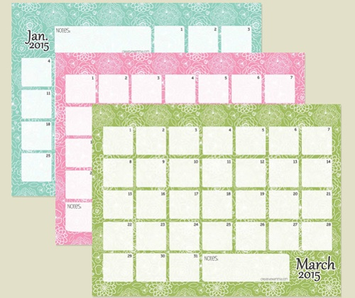 Calendario del 2015 para imprimir gratis