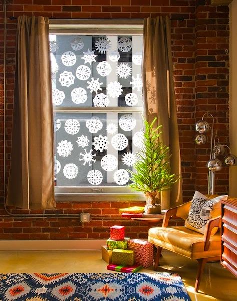 Copos de nieve frozen para decorar ventanas