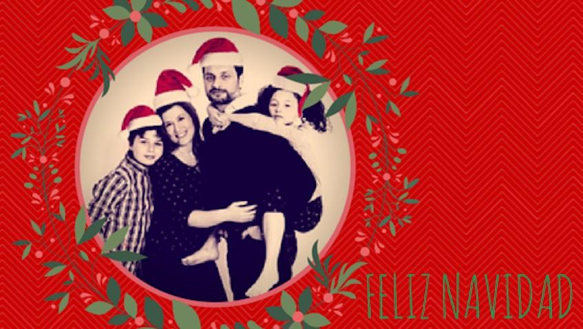 feliz navidad papas e hijos