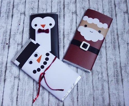 tabletas de chocolates decoradas navidad