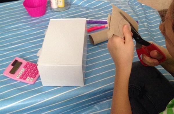 caja registradora juguete carton tutorial