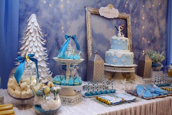 decoración fiesta frozen olaf