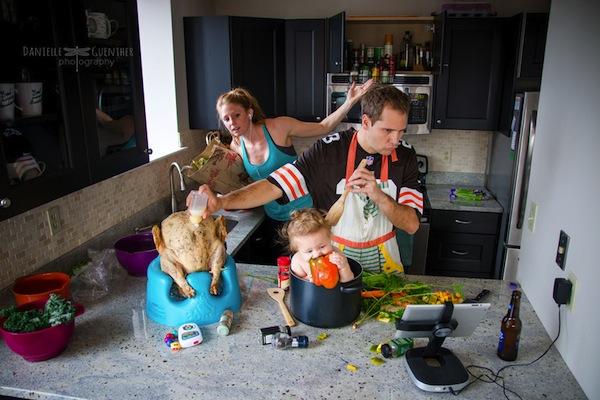 papás cocinando