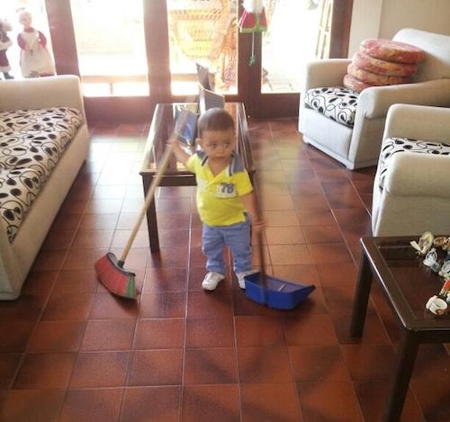 colaborar con las tareas domesticas