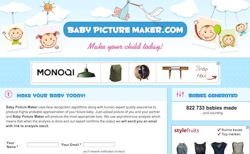 baby picture maker como sera tu bebe