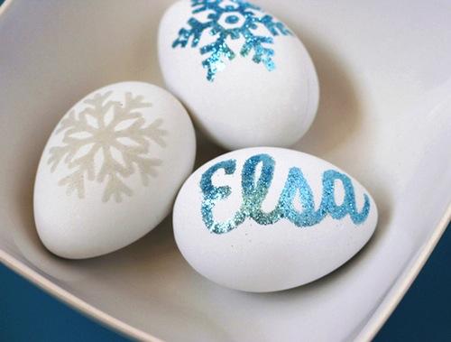 decorar huevos de pascua frozen