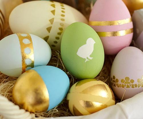 Ideas para pintar huevos de pascua con motivos infantiles