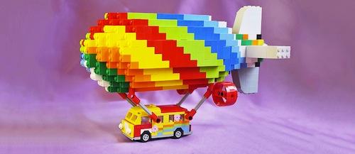 Caravana hippie hecha de bloques LEGO de pleyworld