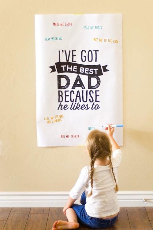 felicitar dia del padre poster