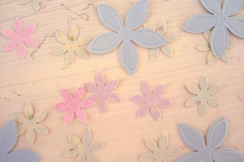 Flores de papel para decorar huevos de pascua