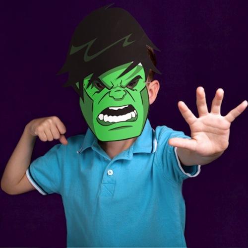 mascara hulk disfraz casero
