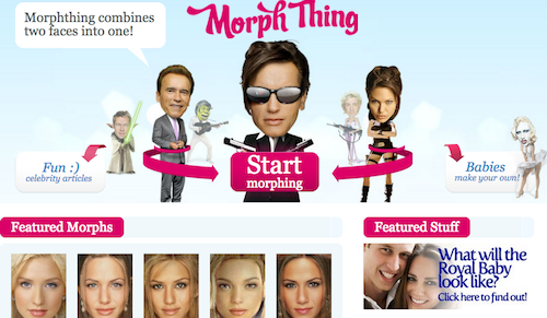 Morph thing, web para saber a quién se parecerá tu bebé