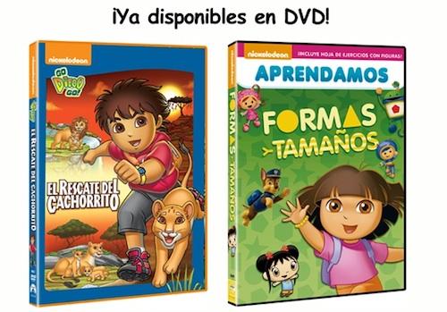 Go Diego Go! El Rescate del Cachorrito y Aprendamos Formas y colores con Dora