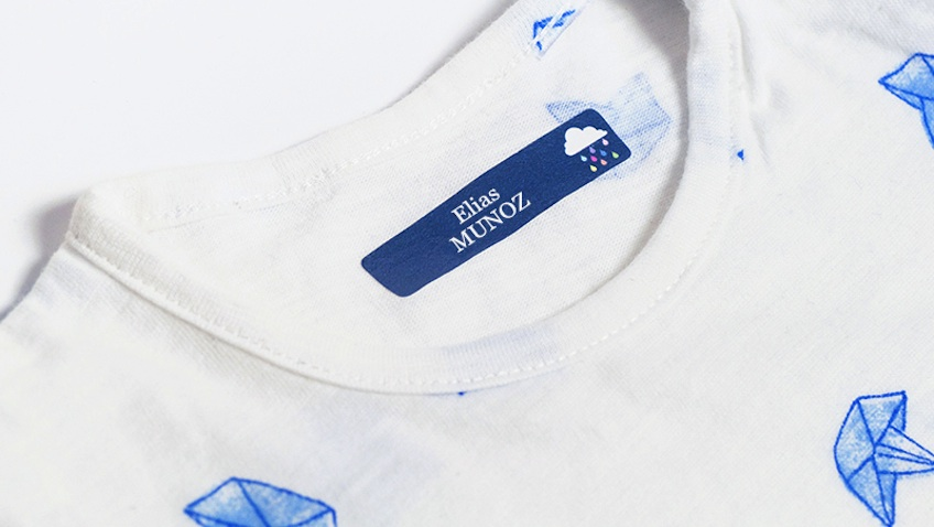 etiquetas marcar ropa infantil