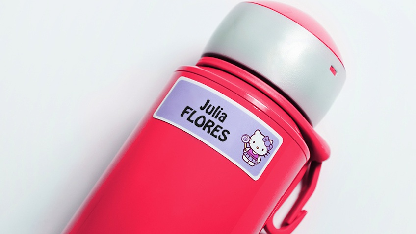 etiquetas personalizadas hello kitty botella