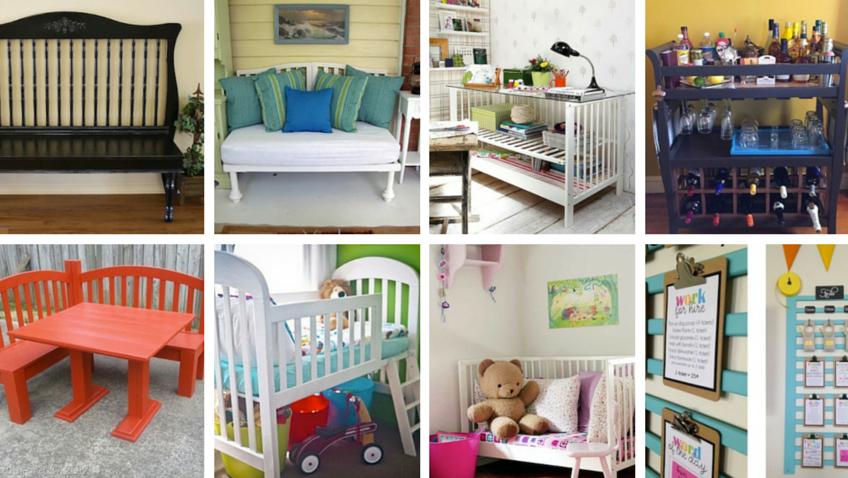 ideas para convertir una cuna en un mueble funcional