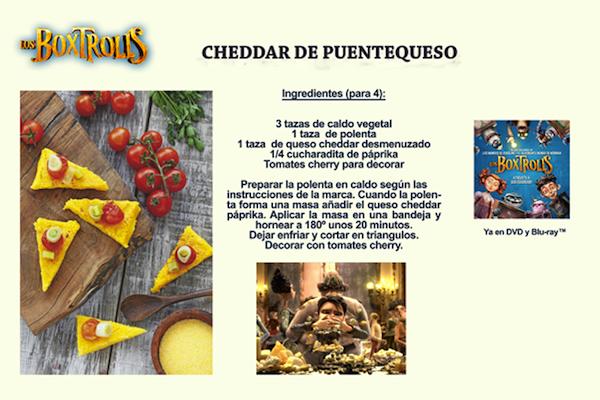 recetas comidas infantiles divertidas queso boxtrolls