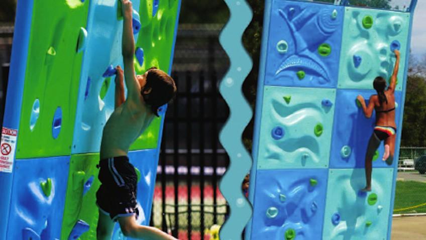 rocodromo escalar aqua climb