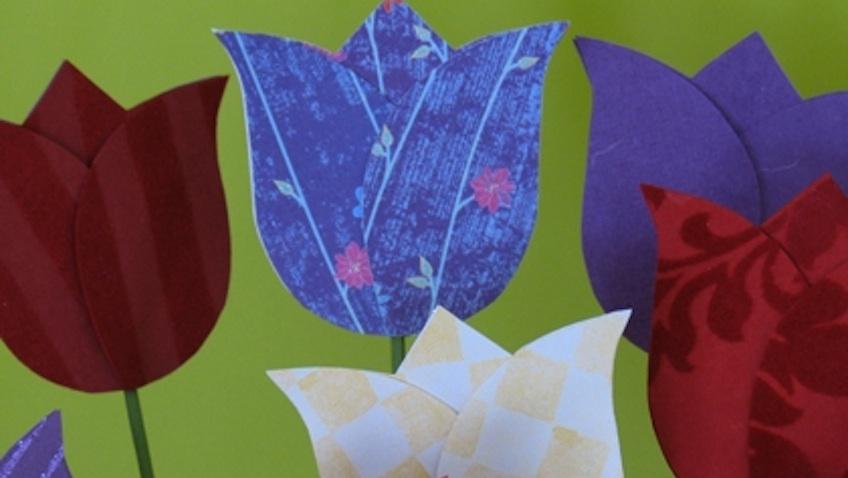 tulipanes de papel diy dia de la madre