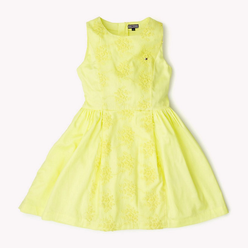 vestido infantil de ceremonia amarillo