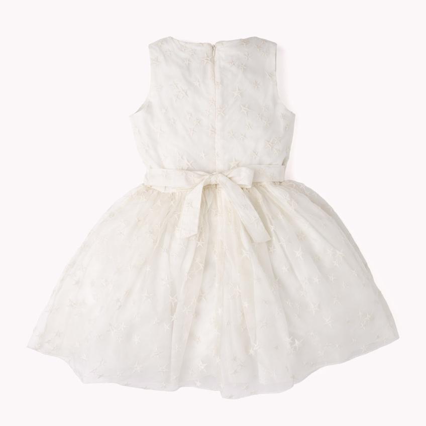 vestidos de ceremonia corto blanco lazo