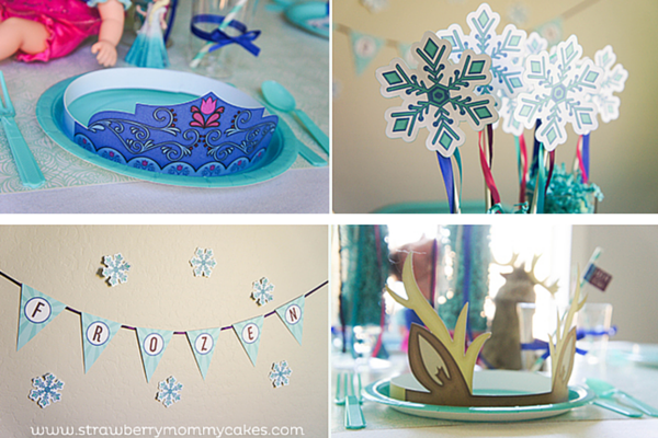 descarga gratis decoracin de fiesta frozen