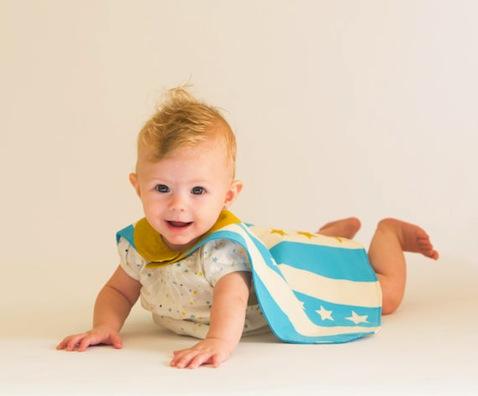 disfraz superheroe bebe hecho a mano