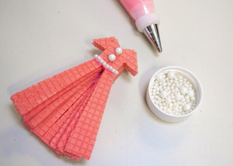 galleta vestido rosa
