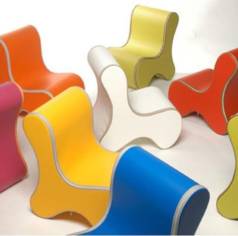 sillas infantiles colores