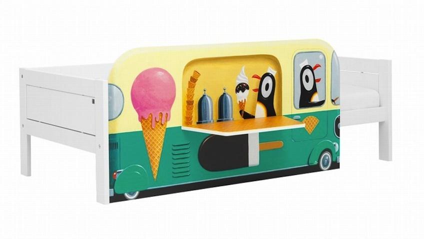 cama infantil blanca pinguinos tienda helados