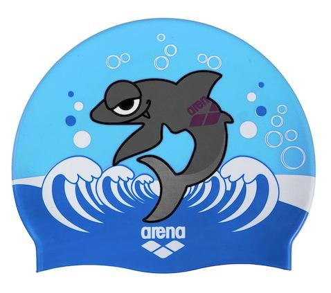 gorro infantil arena azul tiburon