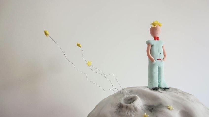 Tarta inspirada en el planeta del  pequeño príncipe