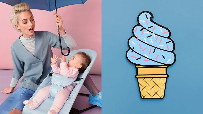 Baby Bjorn hamaca bebes azul claro