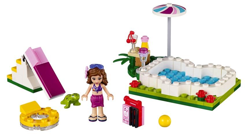 Lego Friends La Piscina en el Jardin de Olivia