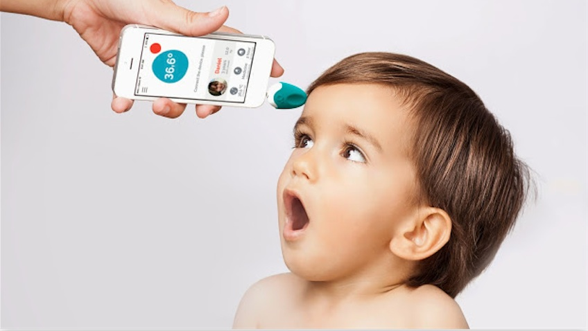 Termometro inteligente infantil oblumi tapp