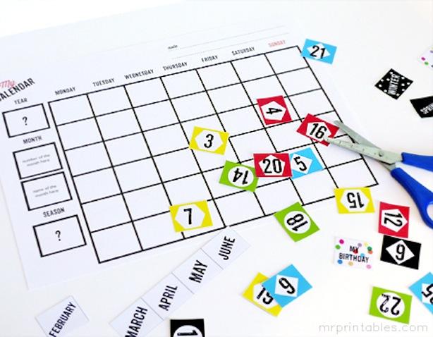 calendario escolar imprimir gratis